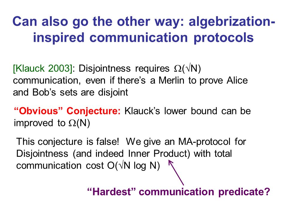 Hardest communication predicate
