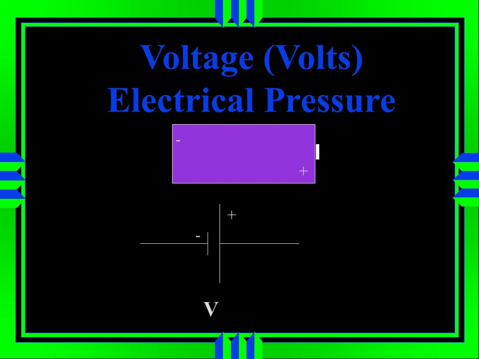 Voltage (Volts) Electrical Pressure