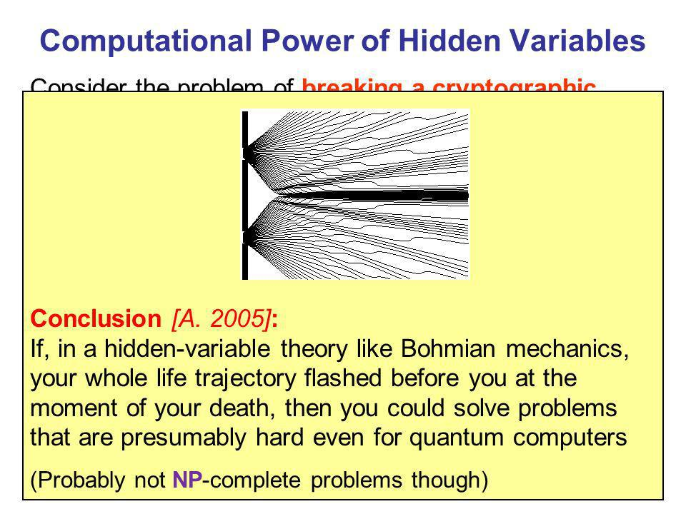 Computational Power of Hidden Variables