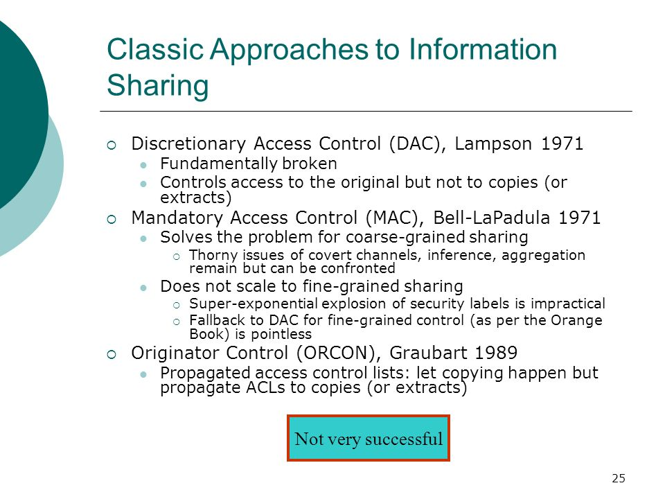 Classic Approaches to Information Sharing