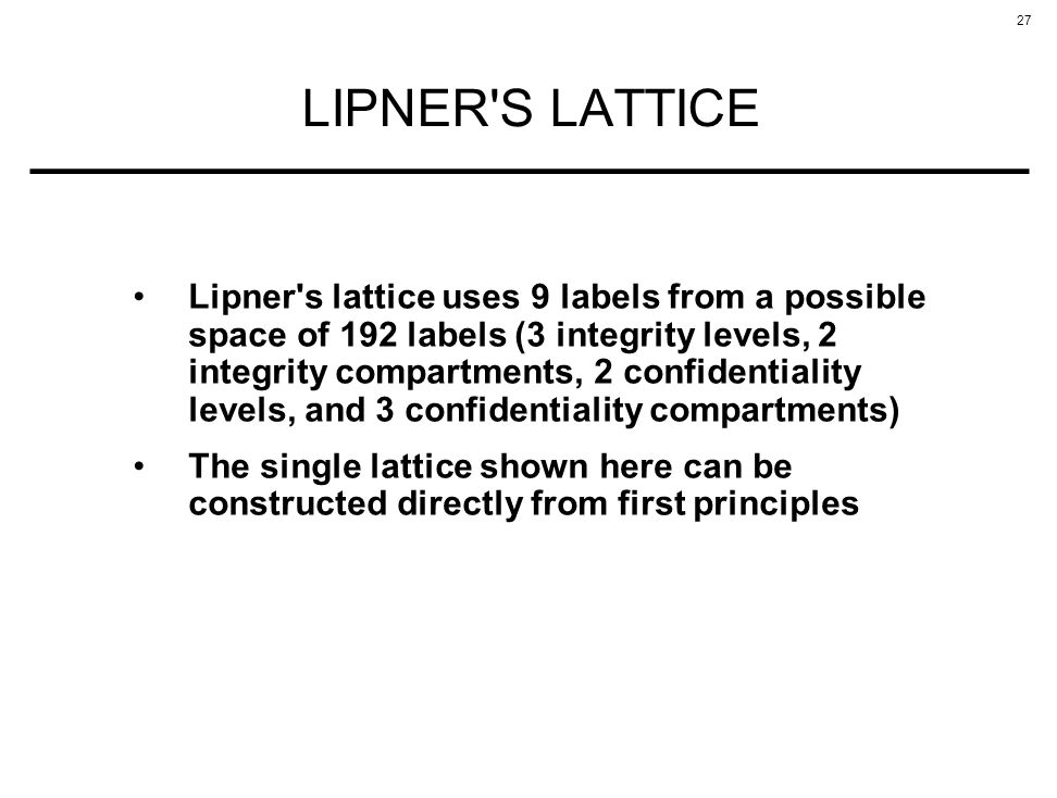 LIPNER S LATTICE