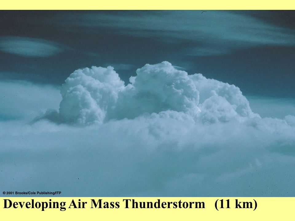 Developing Air Mass Thunderstorm (11 km)