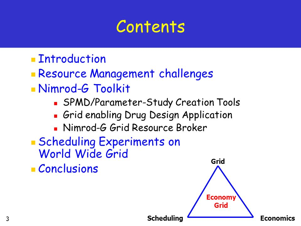 Contents Introduction Resource Management challenges Nimrod-G Toolkit