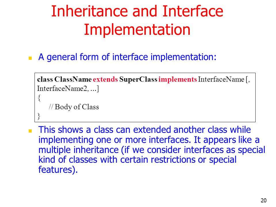 Inheritance and Interface Implementation