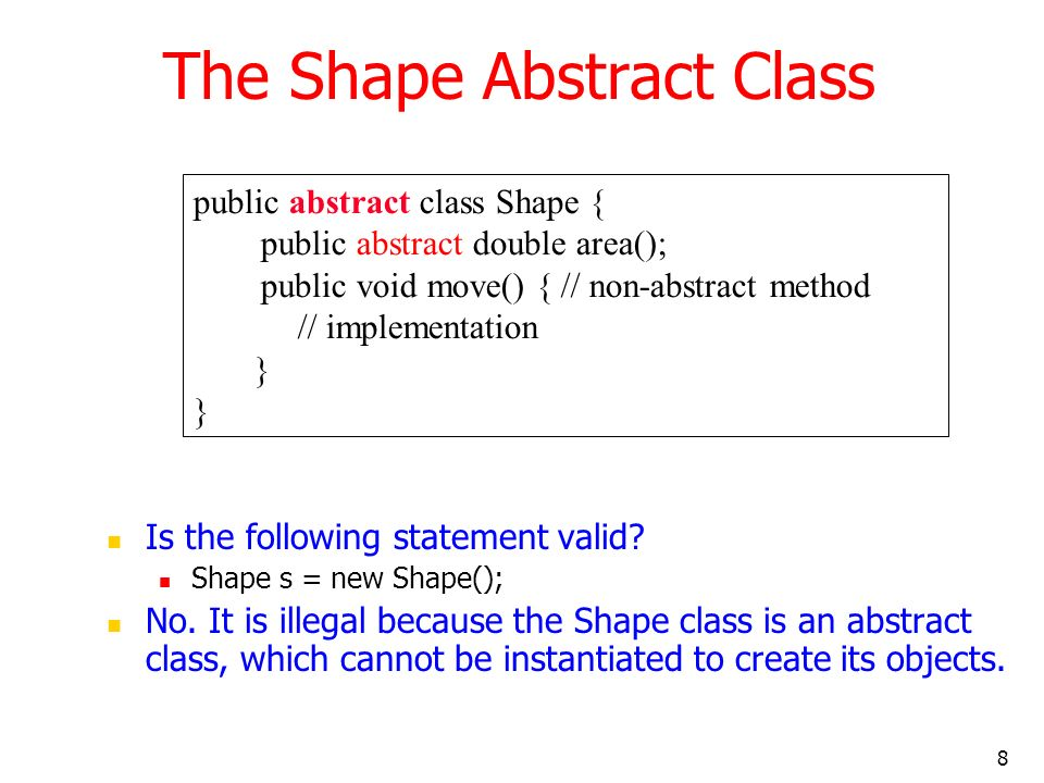The Shape Abstract Class