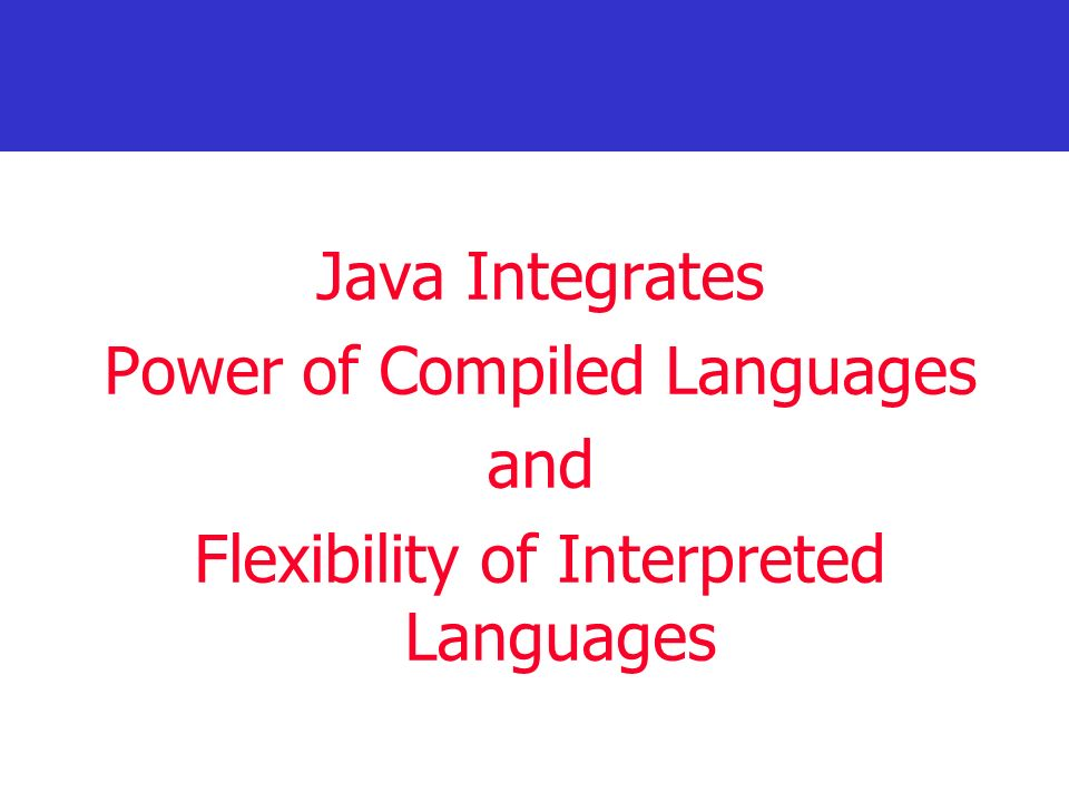 Power of Compiled Languages and Flexibility of Interpreted Languages