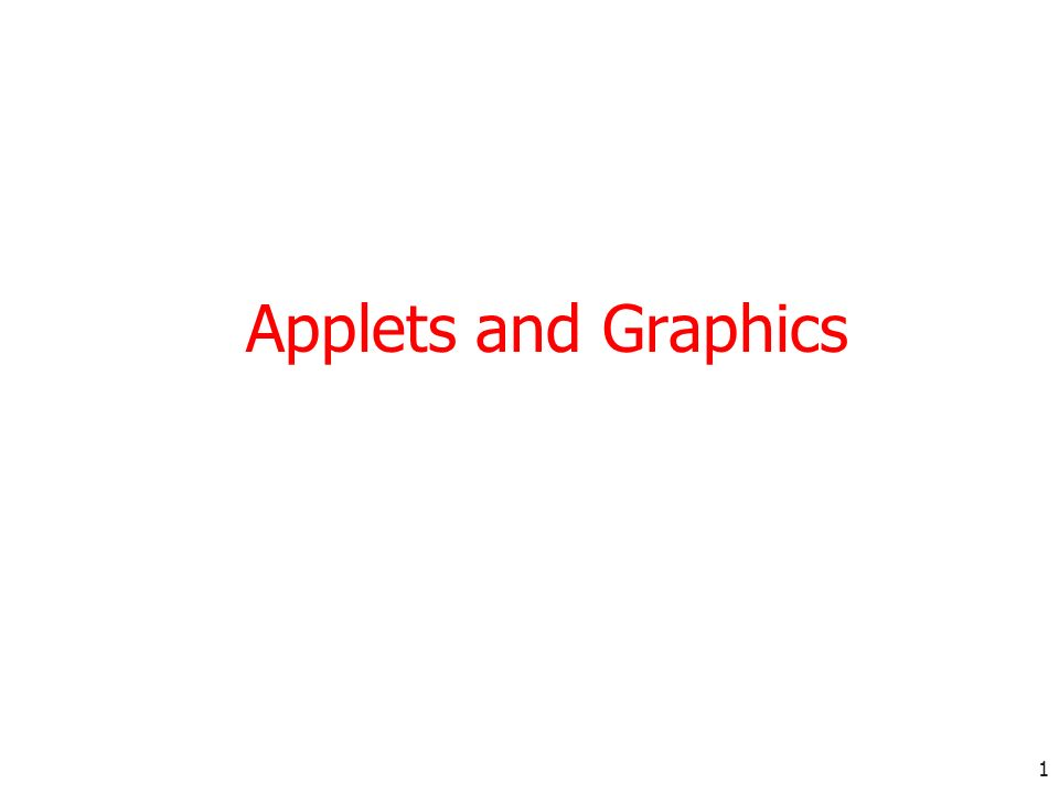 Applets and Graphics