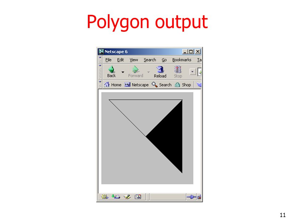 Polygon output