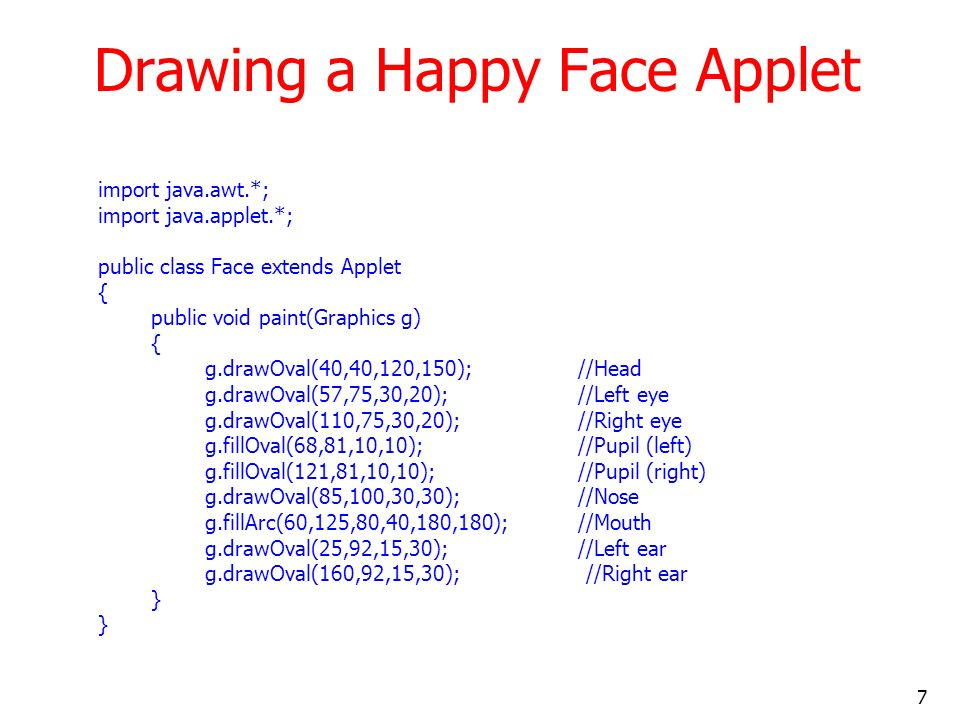 Drawing a Happy Face Applet