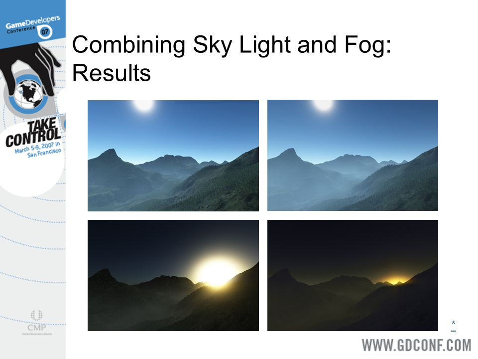 Combining Sky Light and Fog: Results