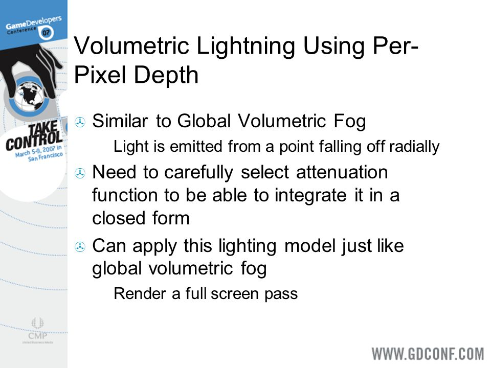 Volumetric Lightning Using Per-Pixel Depth