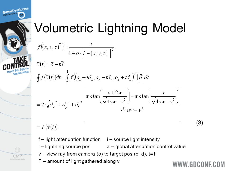 Volumetric Lightning Model