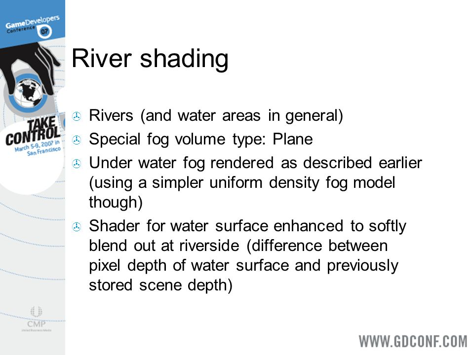 River shading Rivers (and water areas in general)