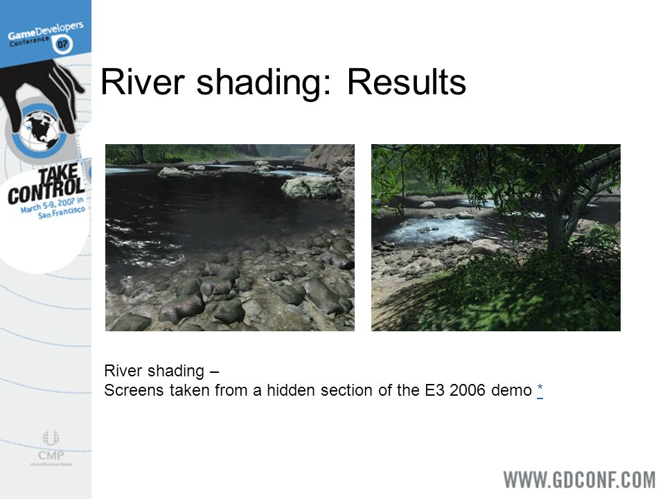 River shading: Results