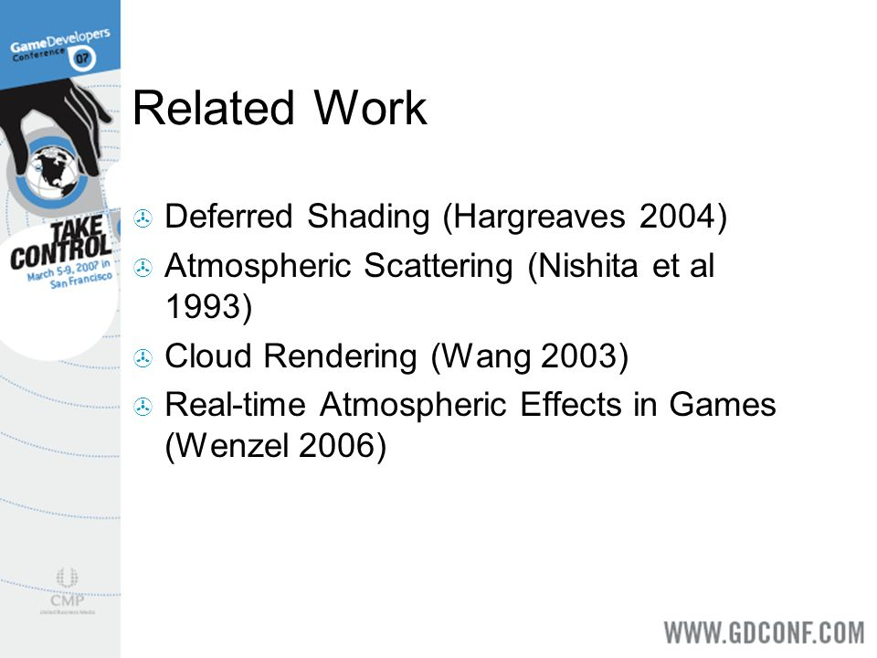 Related Work Deferred Shading (Hargreaves 2004)