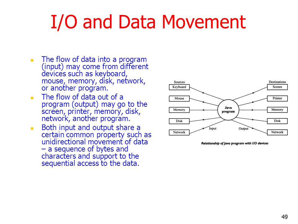 I/O and Data Movement