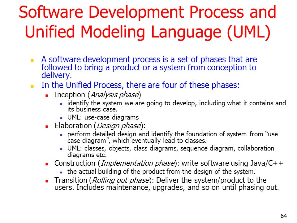 Software Development Process and Unified Modeling Language (UML)