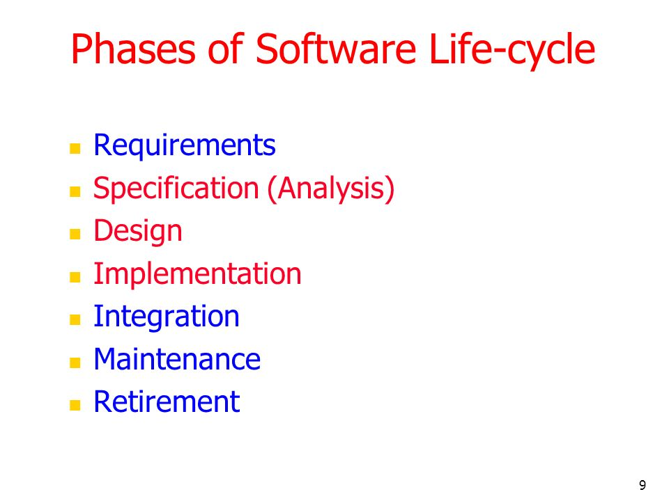 Phases of Software Life-cycle