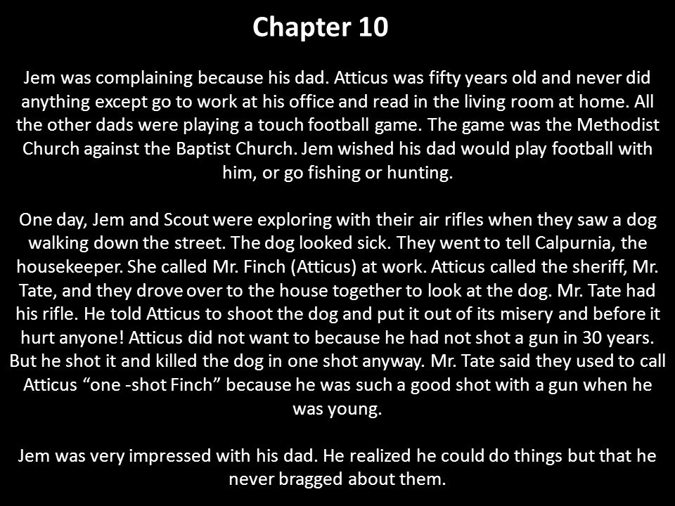 chapter 10 to kill a mockingbird