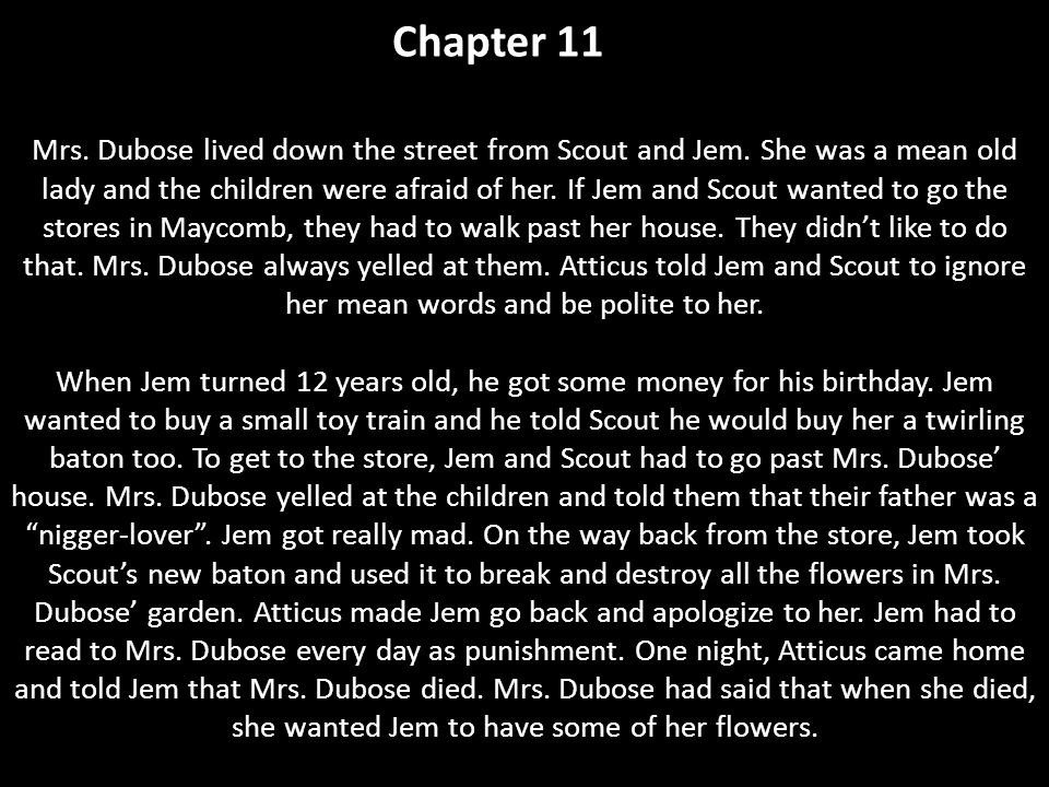 what does mrs dubose symbolize in to kill a mockingbird