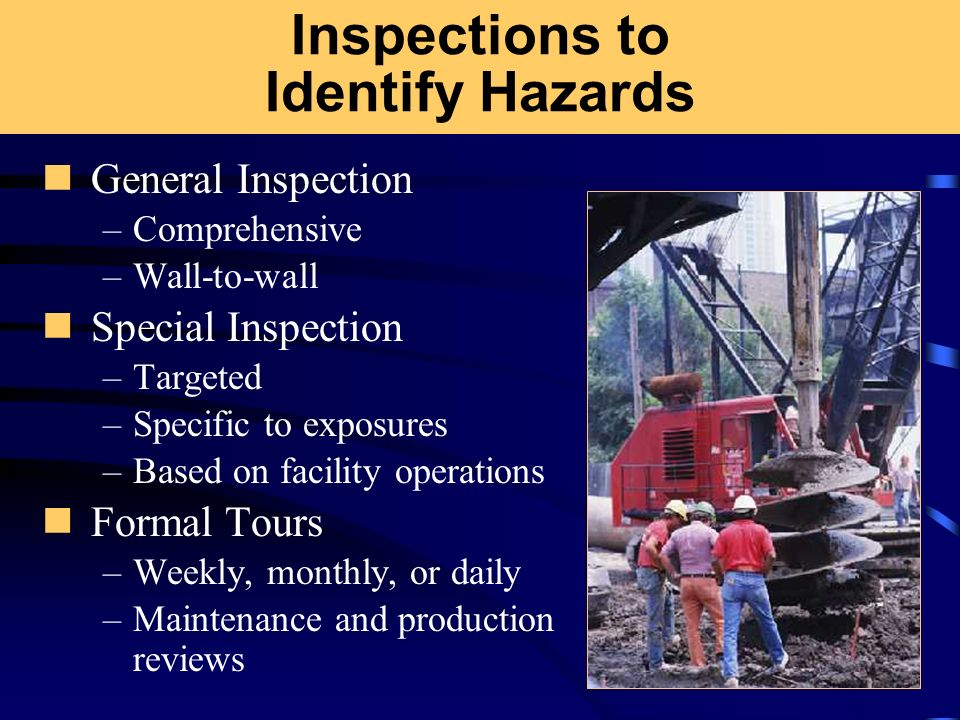 Inspections to Identify Hazards