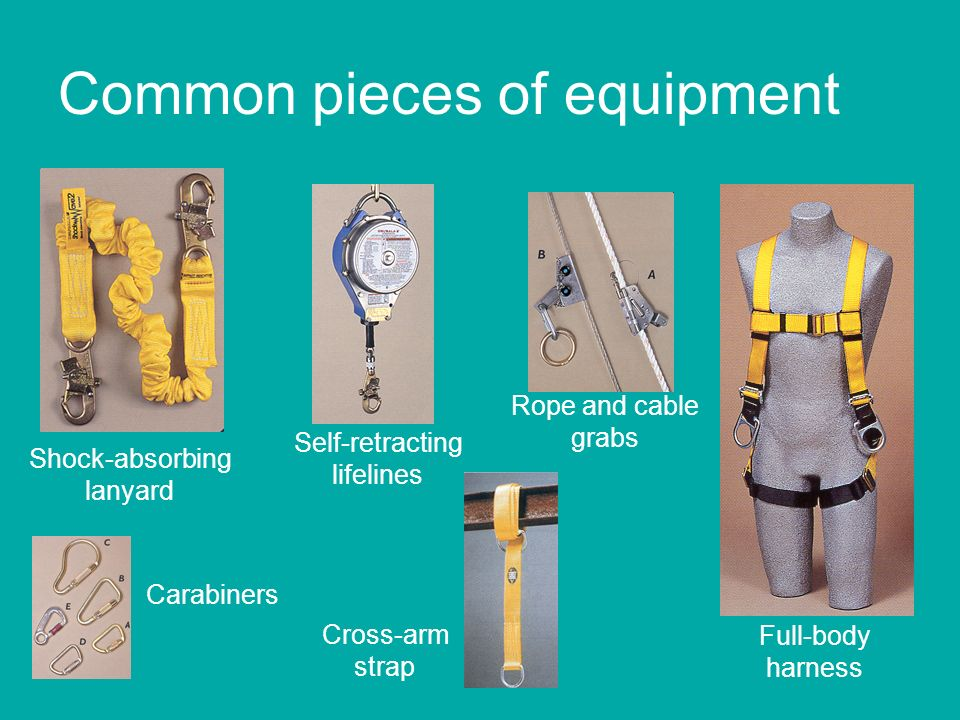 Common pieces of equipment