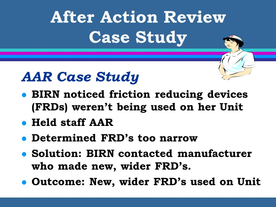 After Action Review Case Study