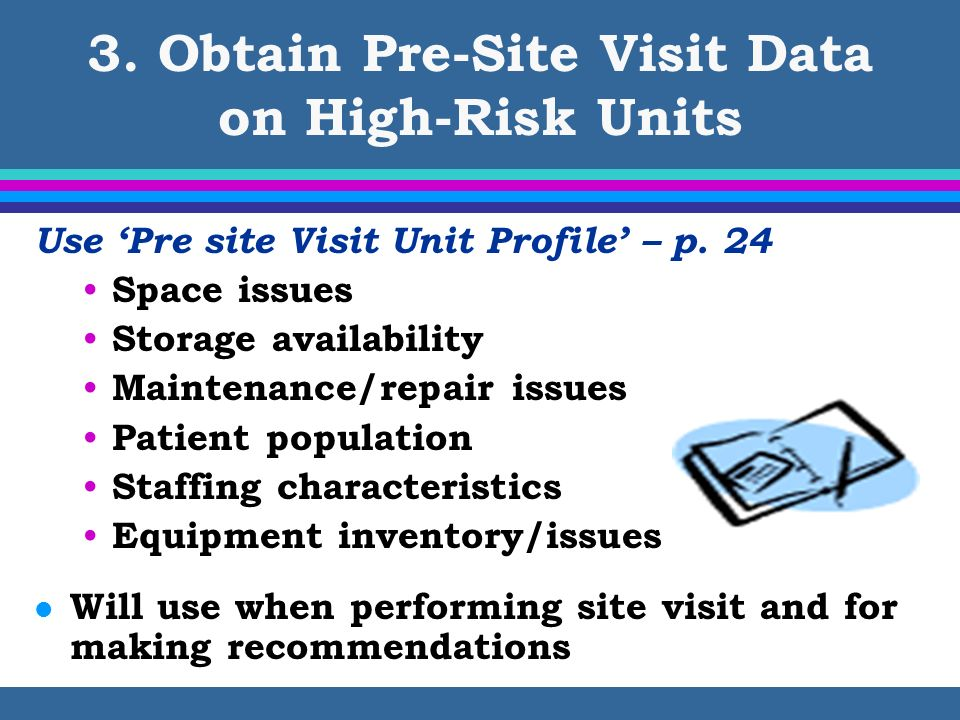 3. Obtain Pre-Site Visit Data on High-Risk Units