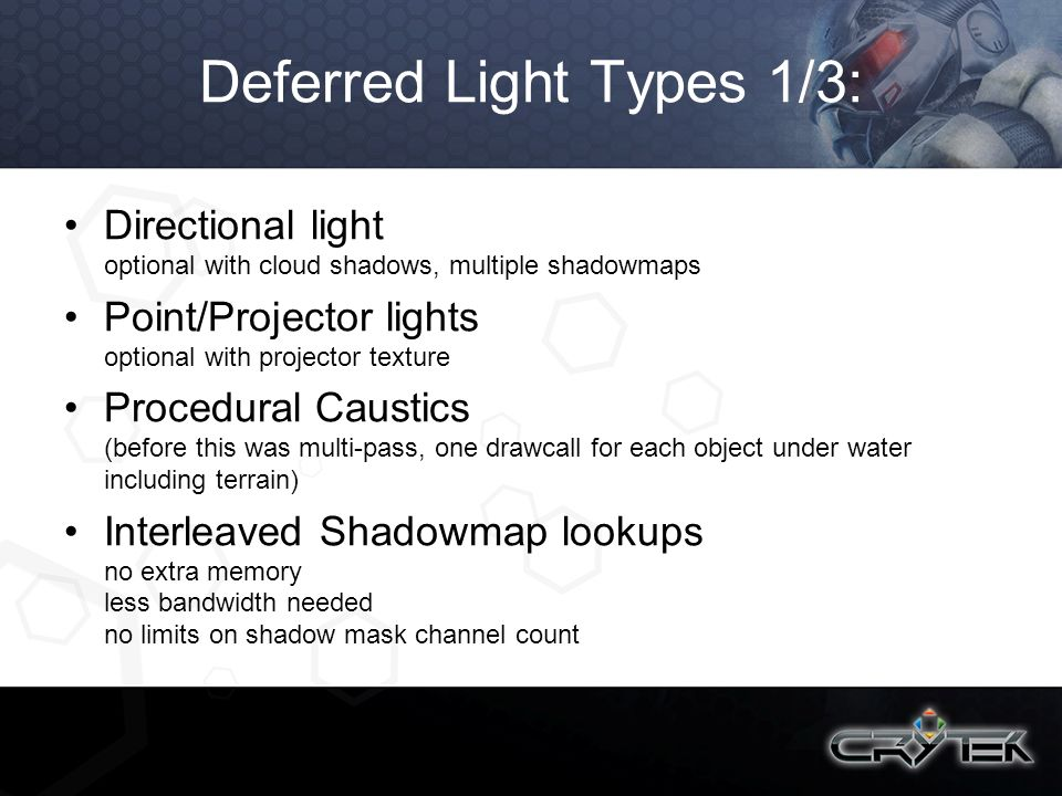 Deferred Light Types 1/3: