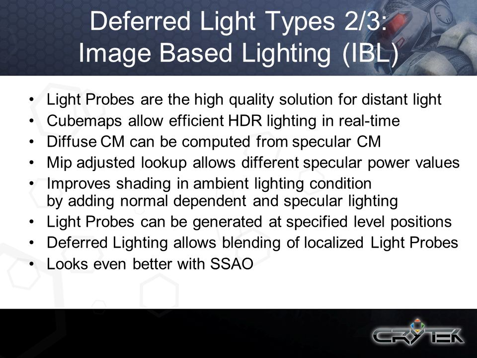 Deferred Light Types 2/3: Image Based Lighting (IBL)
