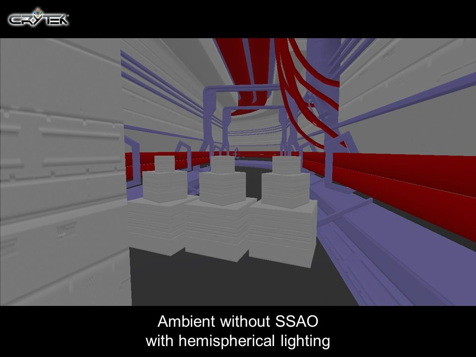 Ambient without SSAO with hemispherical lighting
