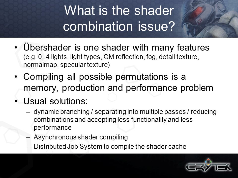 What is the shader combination issue