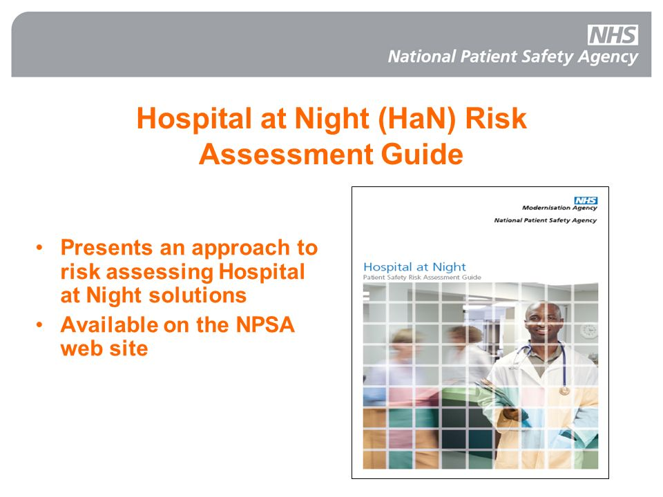 Hospital at Night (HaN) Risk Assessment Guide