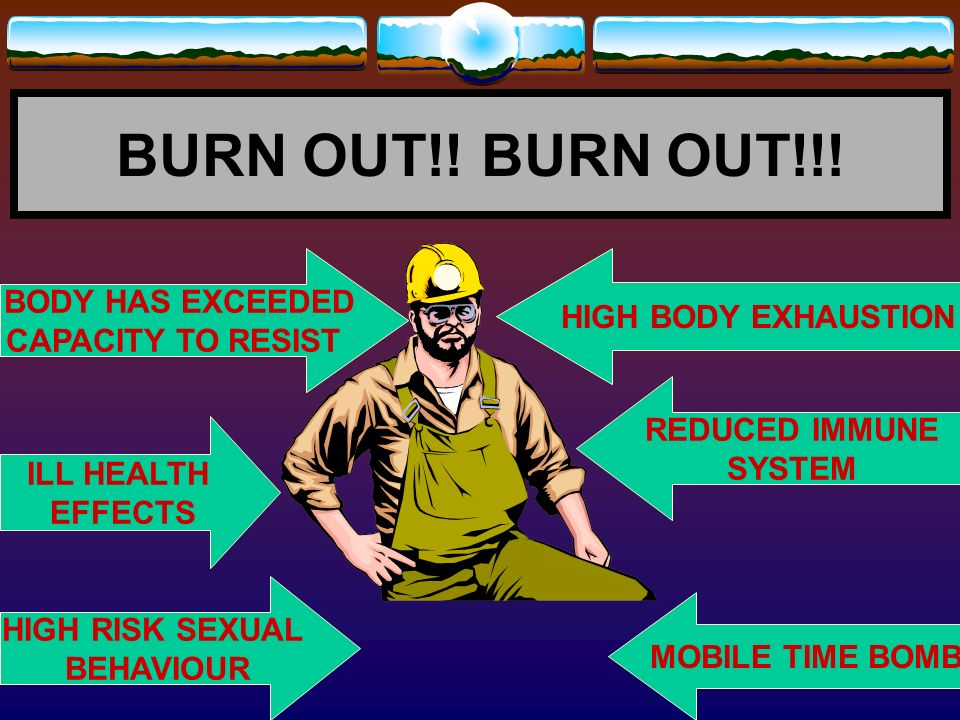 BURN OUT!! BURN OUT!!! BODY HAS EXCEEDED HIGH BODY EXHAUSTION