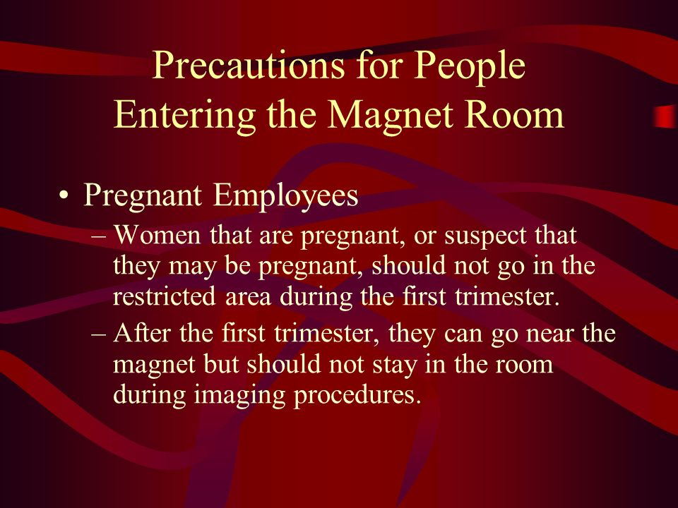Precautions for People Entering the Magnet Room