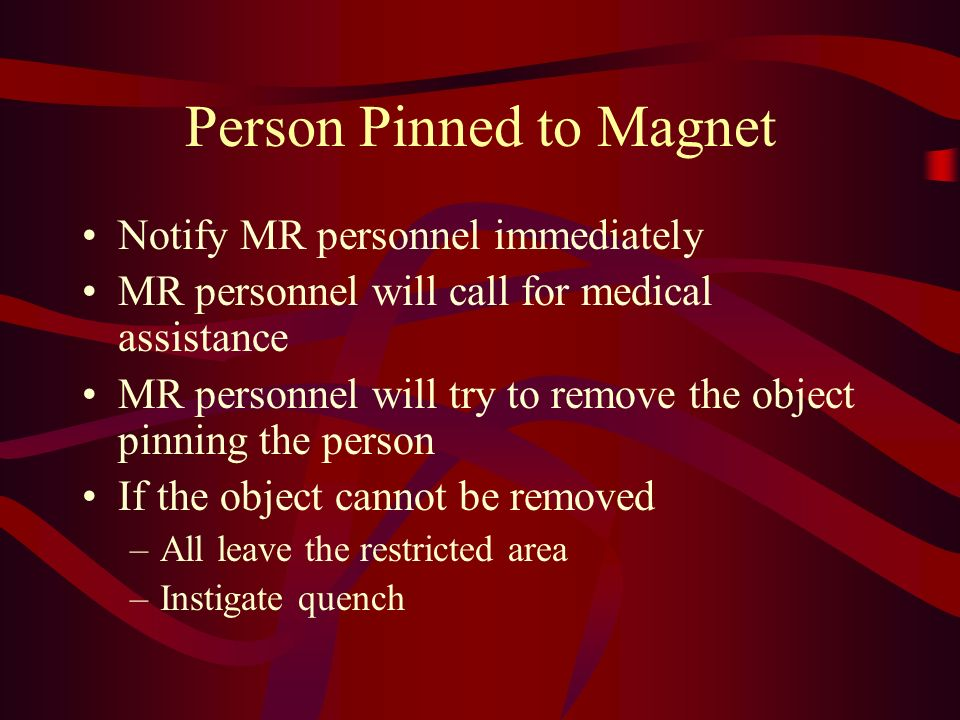 Person Pinned to Magnet