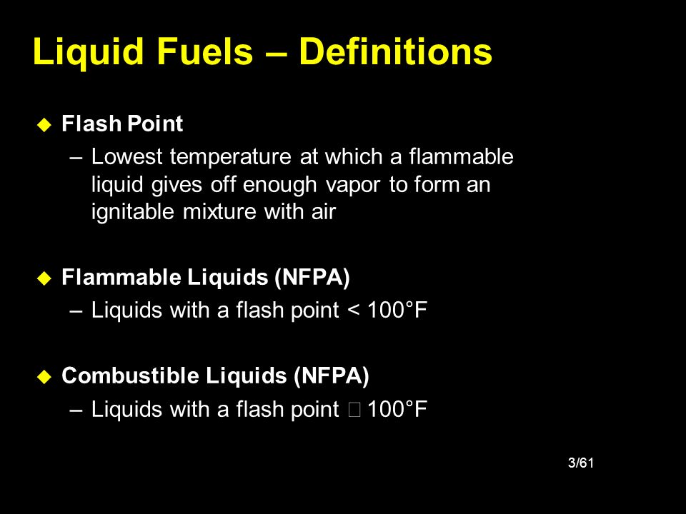 Liquid Fuels – Definitions