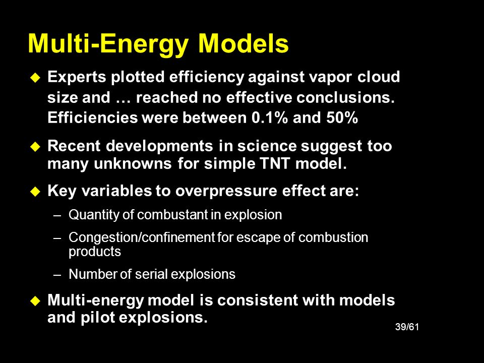Multi-Energy Models