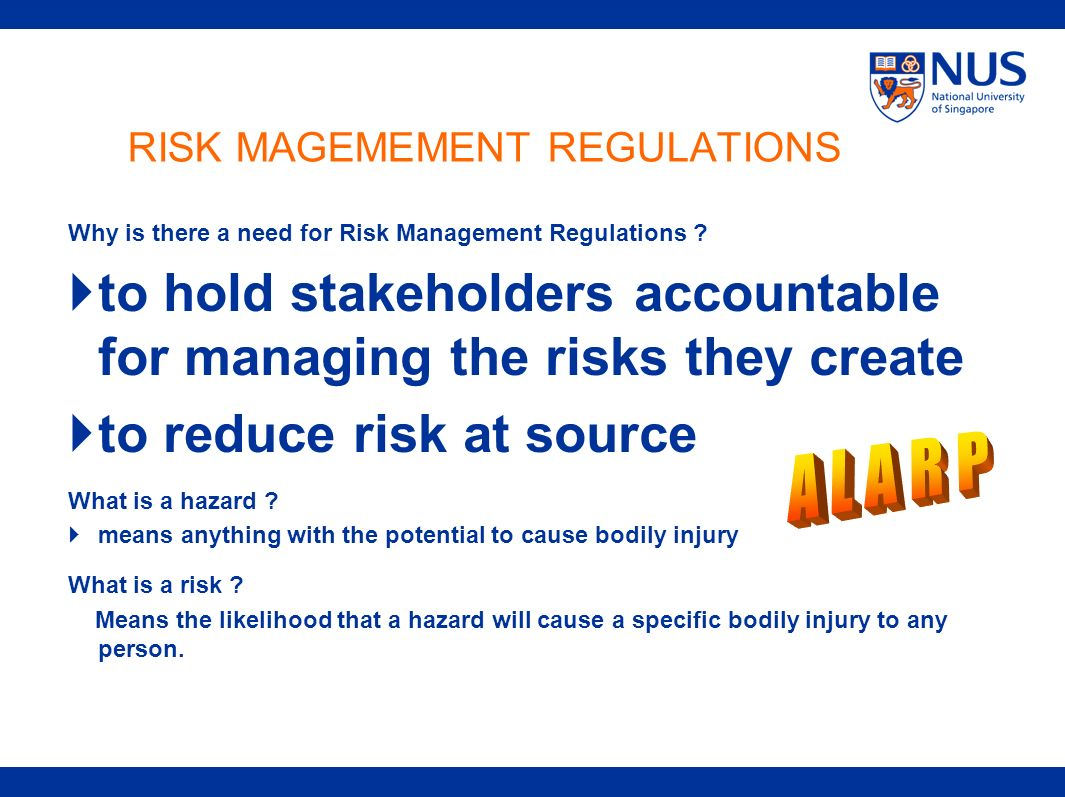 RISK MAGEMEMENT REGULATIONS