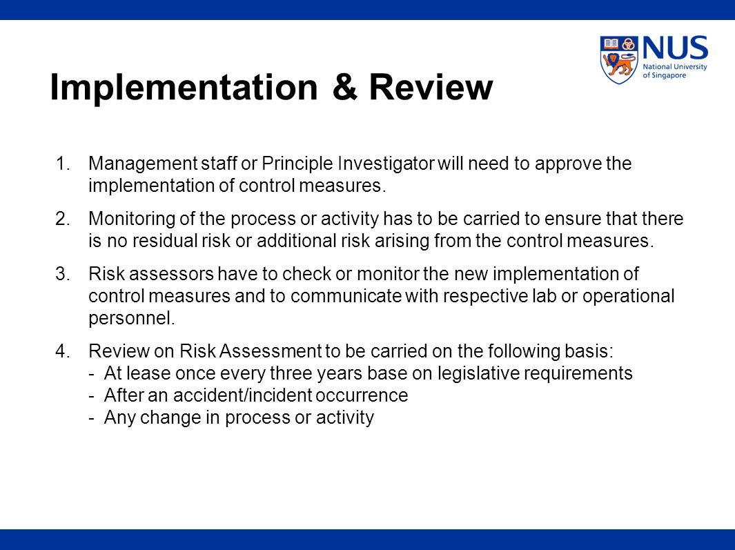 Implementation & Review
