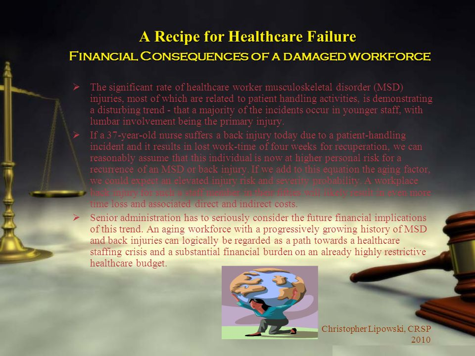 A Recipe for Healthcare Failure Financial Consequences of a damaged workforce