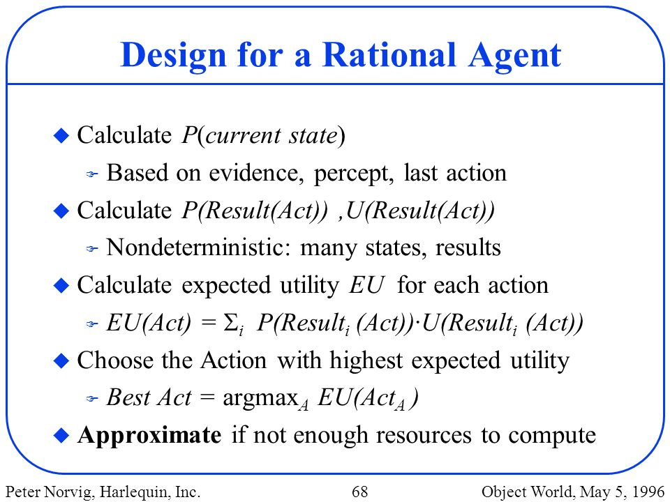 Design for a Rational Agent
