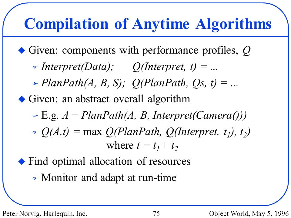 Compilation of Anytime Algorithms