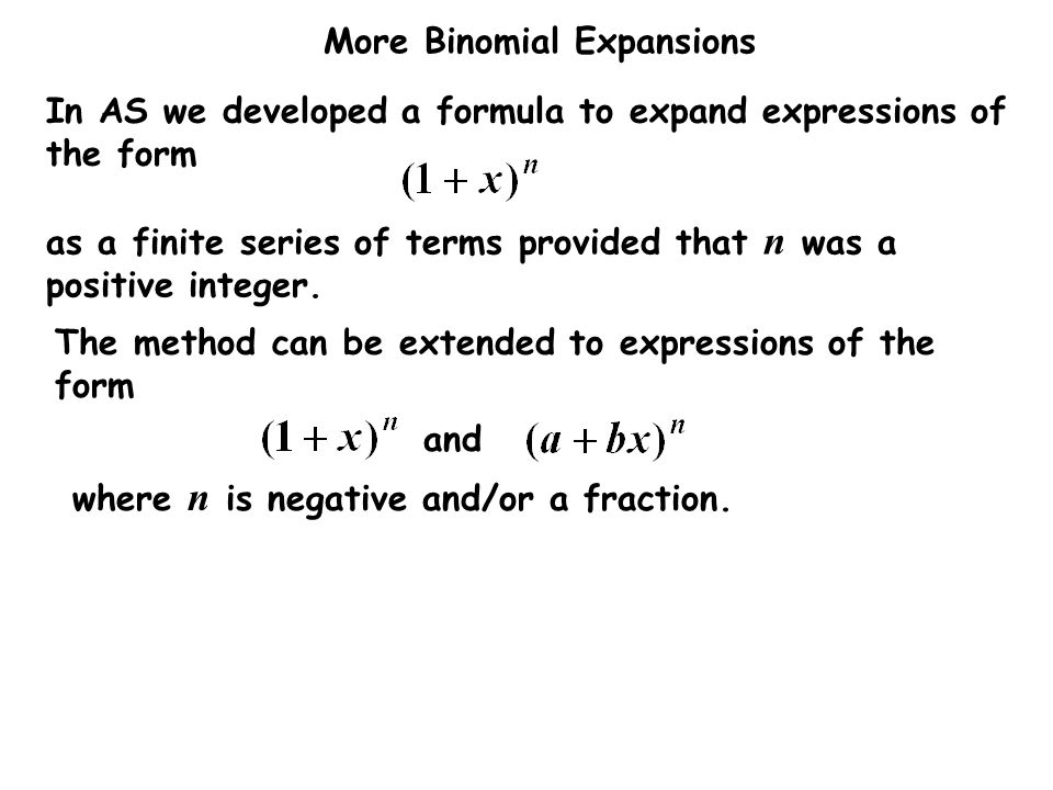 In AS we developed a formula to expand expressions of the form