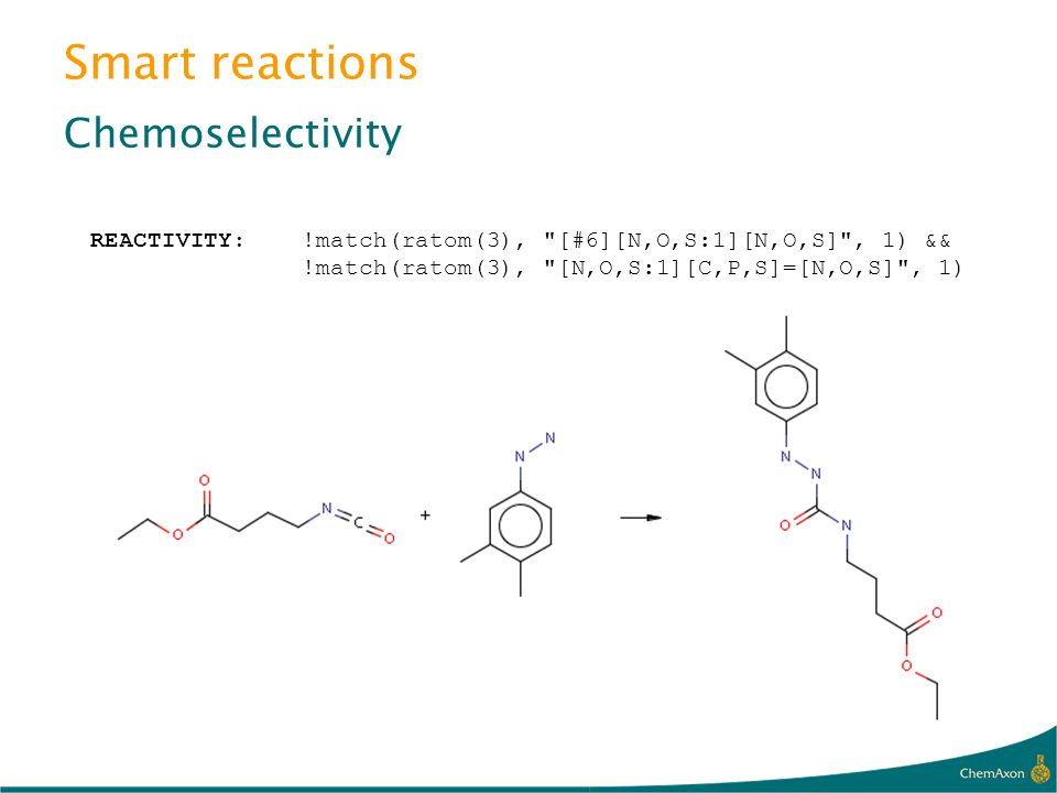Smart reactions Chemoselectivity