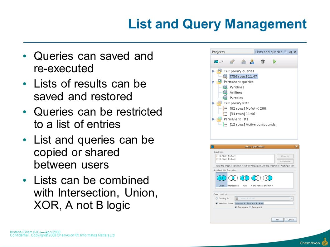 List and Query Management