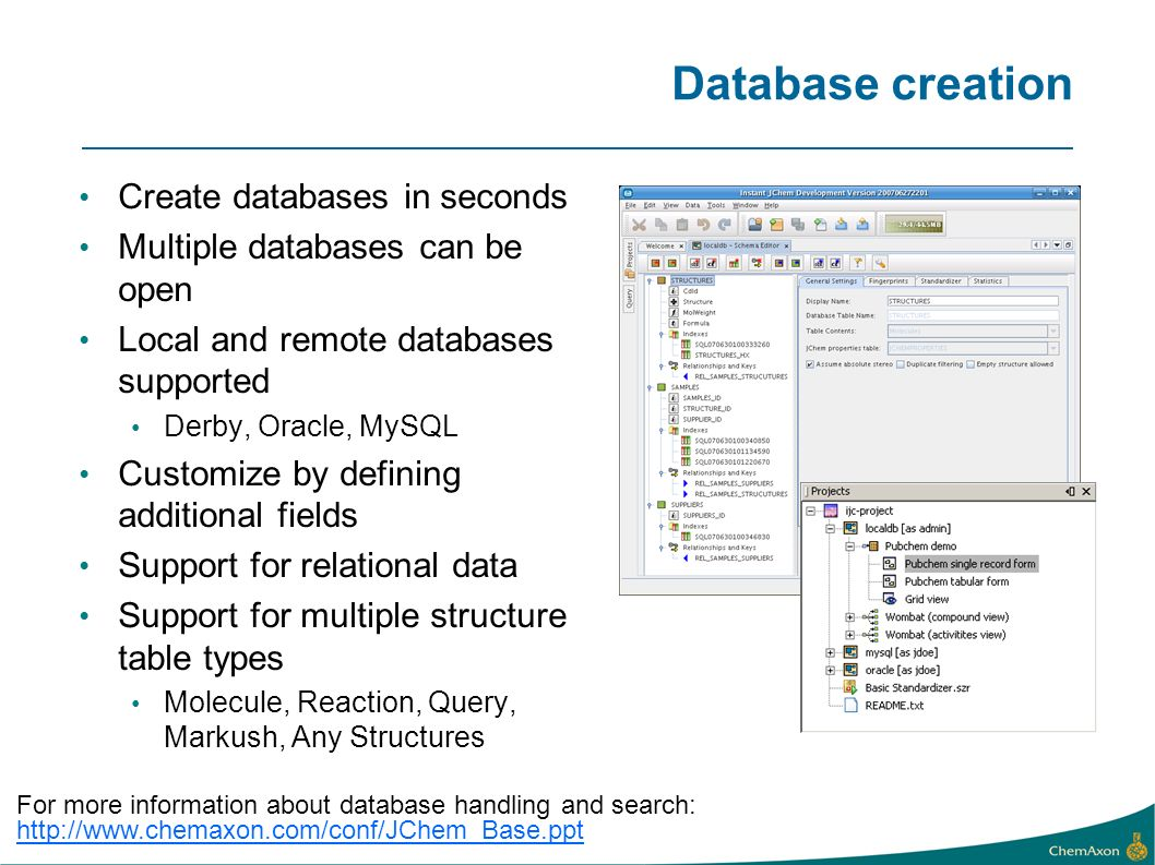 Database creation Create databases in seconds