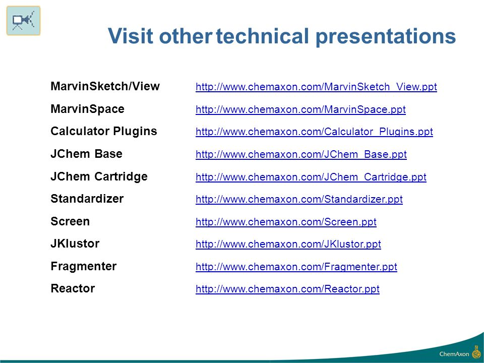 Visit other technical presentations