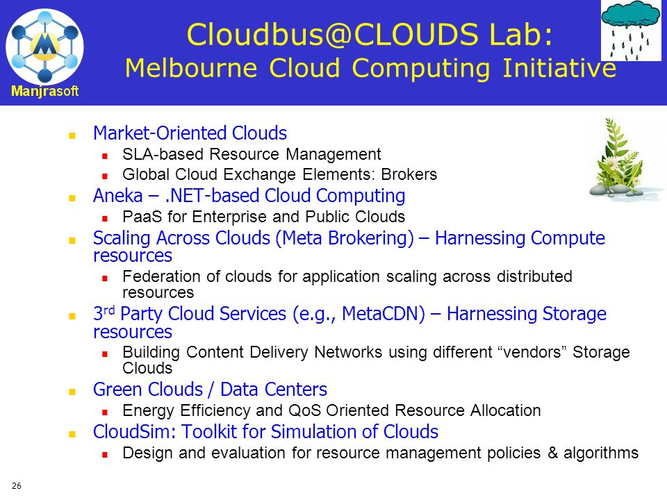 Lab: Melbourne Cloud Computing Initiative
