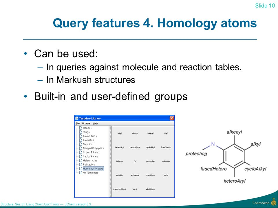 Query features 4. Homology atoms